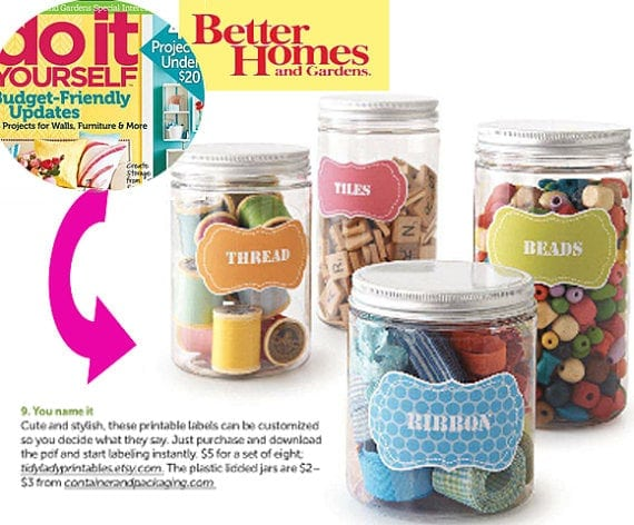 Printable Labels Better Homes and Gardens
