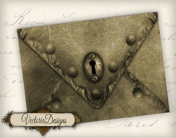 Printable Steampunk Envelope