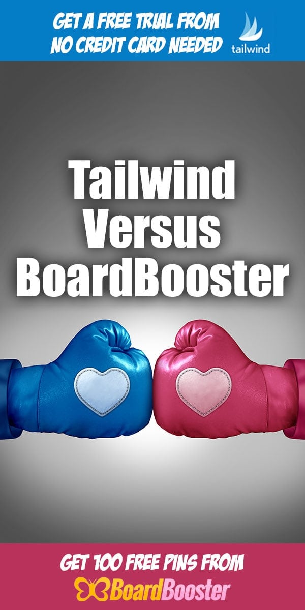 Tailwind Versus BoardBooster | Pinterest Marketing Tools ... Today we are going to look at the differences between two different Pinterest Marketing Tools, Tailwind and Board Booster. Each does the scheduling and reporting of automated Pinterest pins in a very different way.