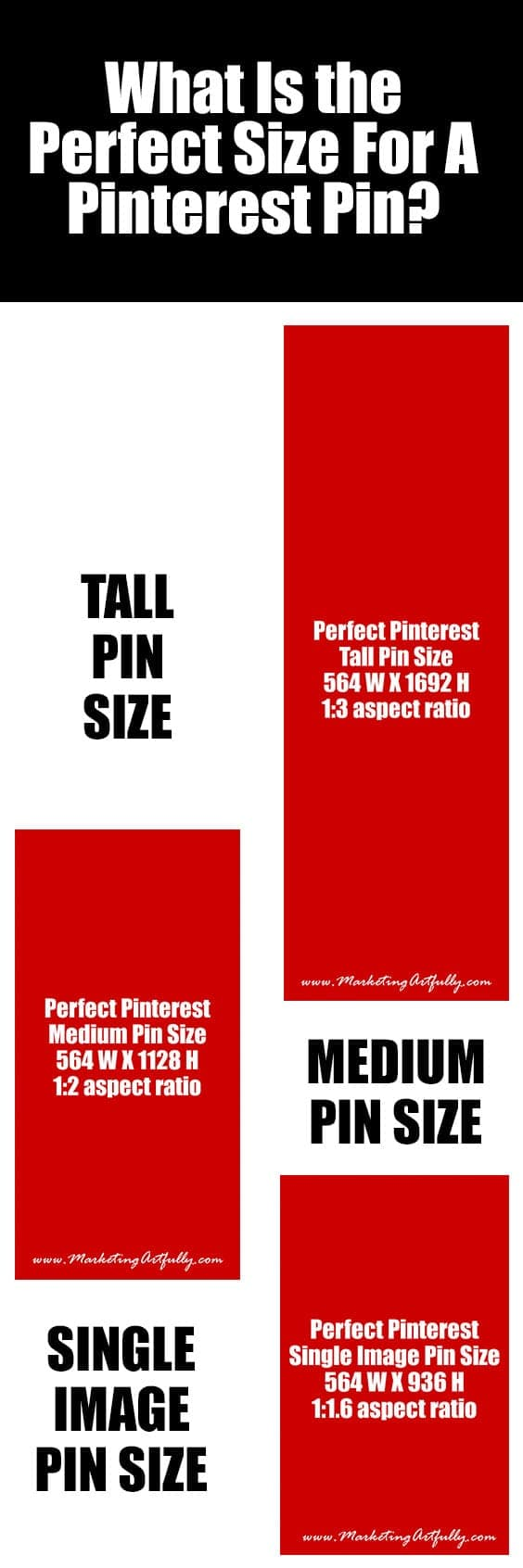What Is The Perfect Size For A Pinterest Marketing Pin | In Pinterest Marketing Banner size matters! Today we are going to take a look at the different sizes and layouts for Pinterest pins and see what is working and how we can make our pins better.