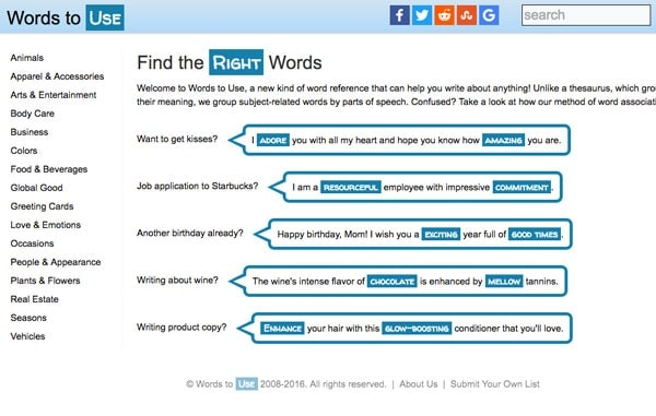 words-to-use