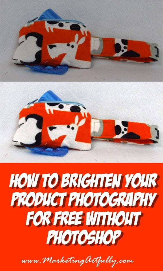 "How To Brighten Your Product Photography For Free Without Photoshop | Today's post is for all my Ecommerce peeps. We all know how important having ""light and bright"" product photography is, but sometimes it can seem like getting those beautiful pictures is impossible. Additionally I have found tons of info about using Photoshop for editing and yes it is great (I use it myself), but some people are just not at the place where they can make that investment yet."