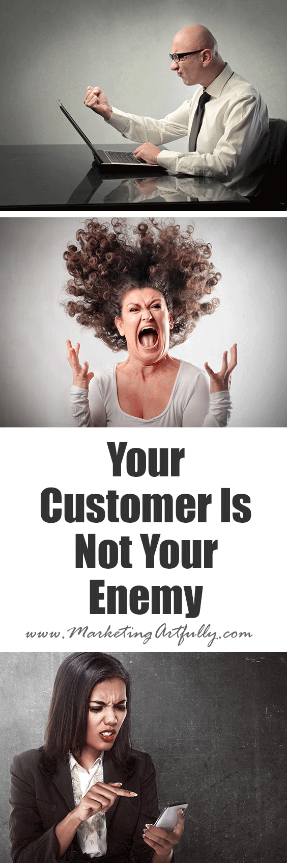 Your Customer Is Not Your Enemy | If you come from a place of wanting to please your customers and give them a great buying experience, then you are probably going to have less a-hole customers. Just my opinion.