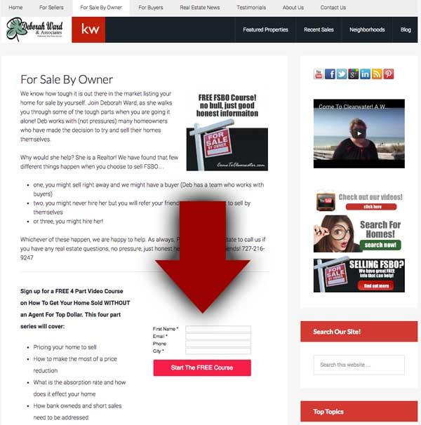 Real Estate Internet Marketing - Signup Form