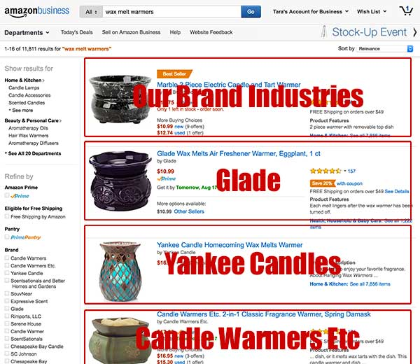 Wax Melt Warmers Amazon Search
