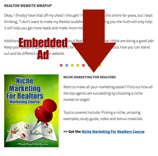 Embedded Ad - Real Estate Marketing