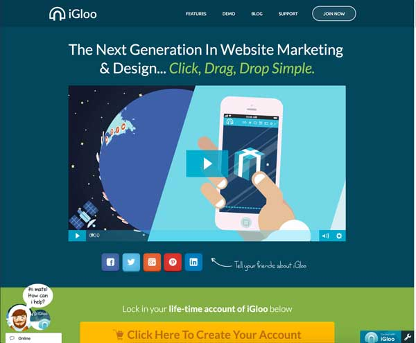 Igloo Landing Page Maker