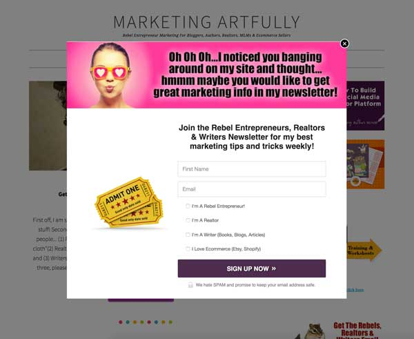 Popup Boxes for Real Estate Agents