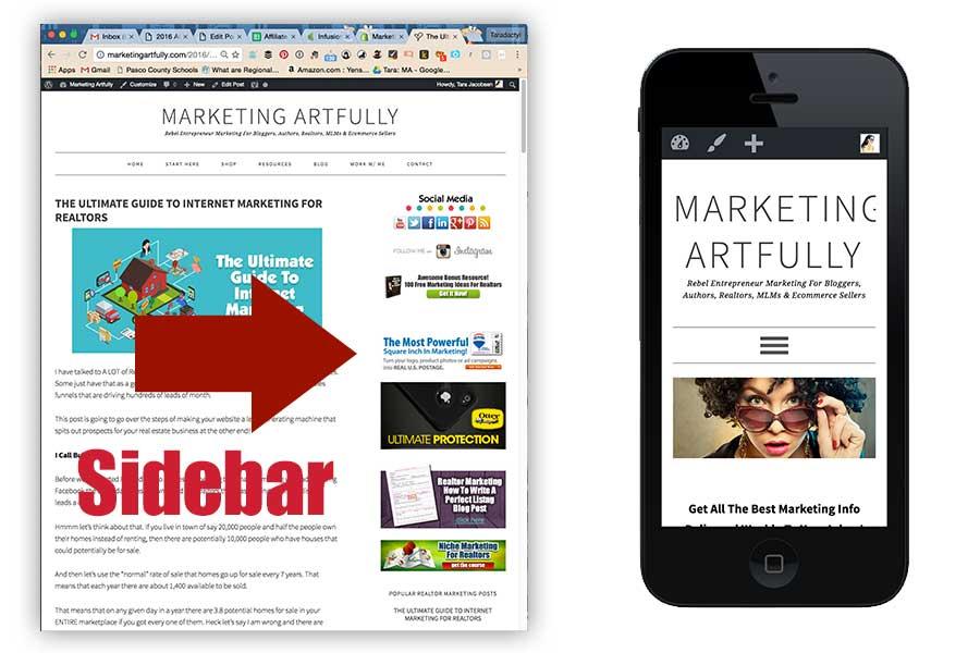 Sidebars Versus Mobile - Real Estate Internet Marketing