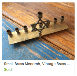 Small Vintage Brass Menorah
