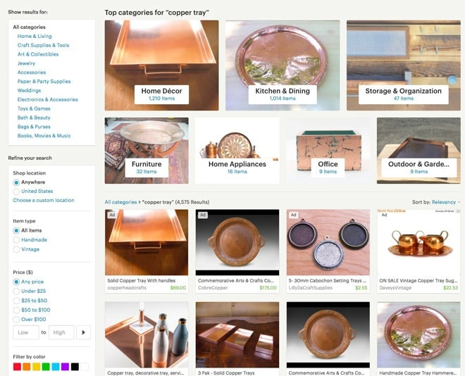 Category Page In Etsy Search