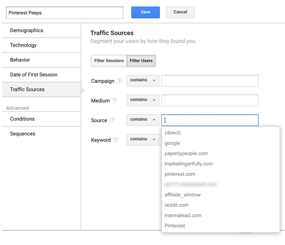 Google Analytics For Etsy Helpful Segements