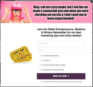 Leadpages Popup Box