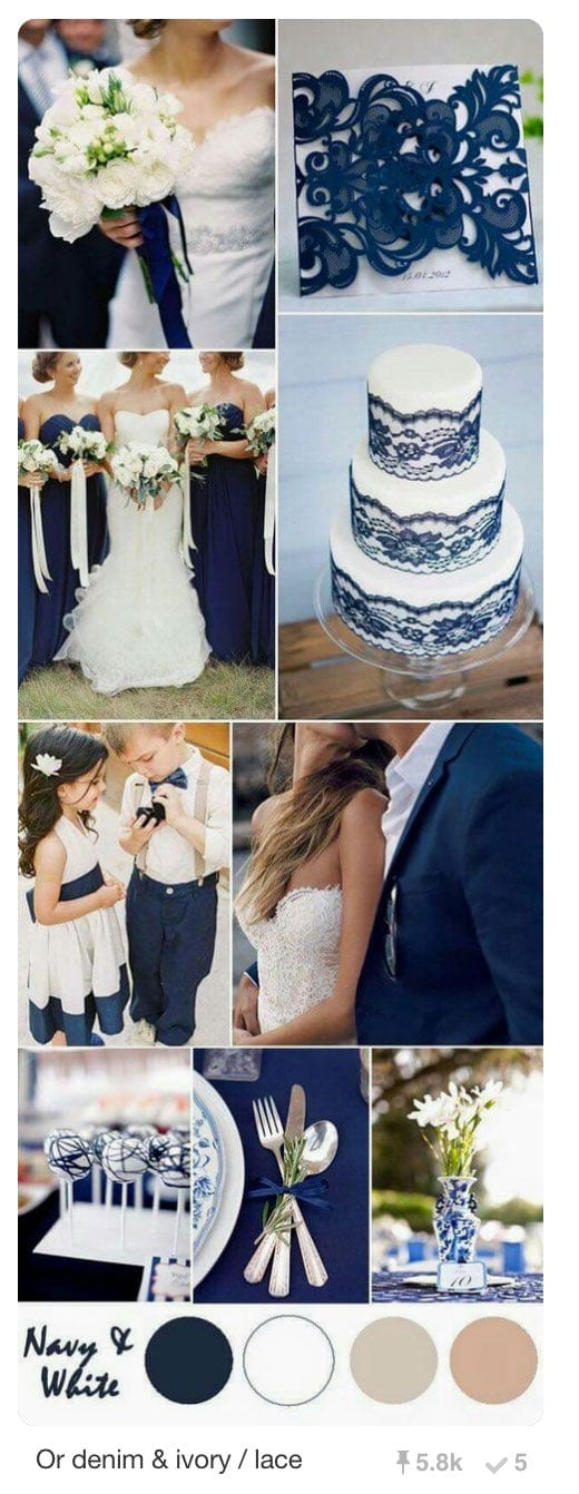 Pinnable Pinterest Pins - Blue Wedding