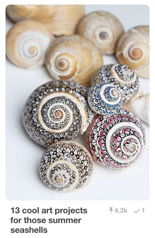 Pinnable Pins - Seashells Light