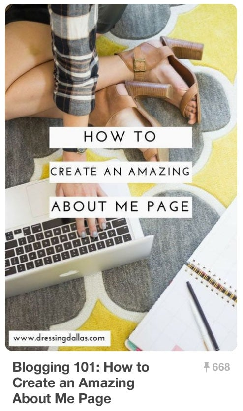 Pinnable Pinterest Pins - Amazing About Me Page