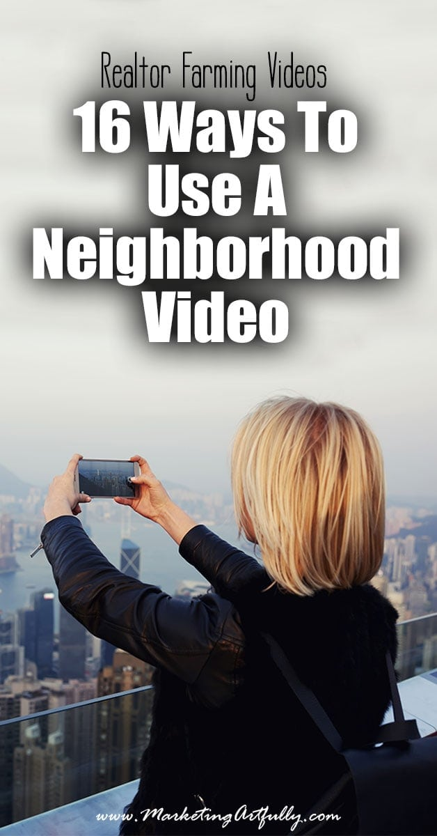Realtor Farming Videos - 16 Ways To Use A Neighborhood Video | First off let's talk about what a Realtor farming video is. Functionally it is a video that allows you take over a keyword in your farm neighborhood on Google or YouTube. In it you will talk about a specific aspect of your farm and target a keyword that will help you to get listing calls!