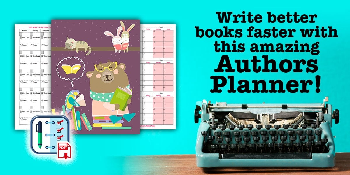 Authors Planner | 22 Page Author Planner, Research, Plan, Scope Out Your Book, Track Sales and Promos, Printable Planner, Instant Download