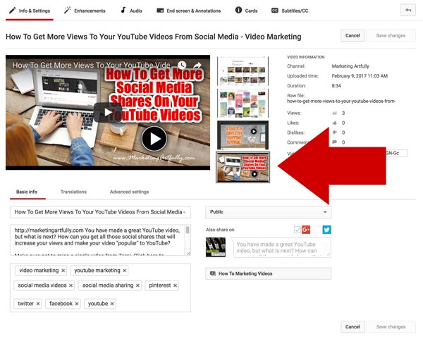 How To Upload A Thumbnail Image On YouTube