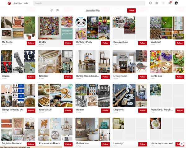 Pinterest Boards - Etsy Buyer