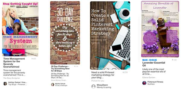 Pinterest Marketing Pins - Lots of Words