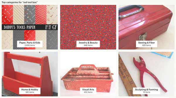 Red Tool Box - Etsy Category Page