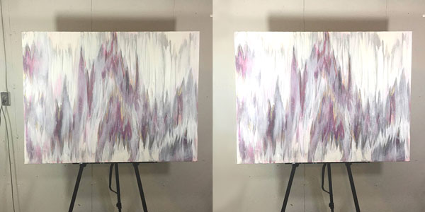 Abstract Art On An Easel