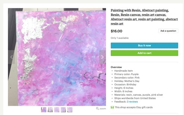 Pink Handcrafted Abstract Art