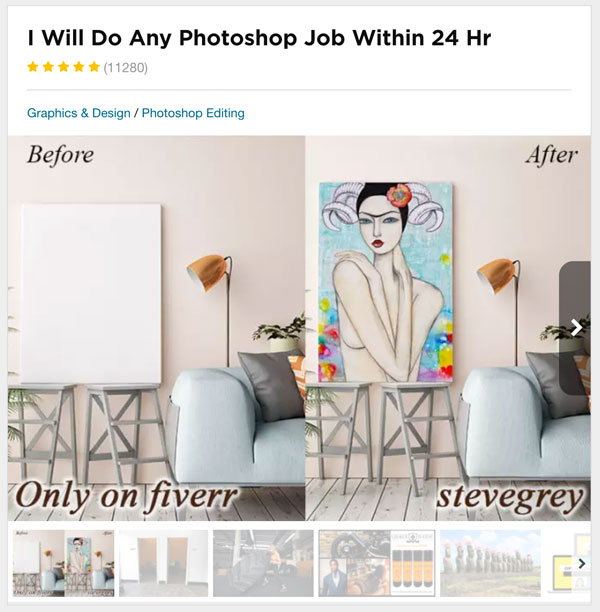 Fiverr Gig For Photoshop Mockups