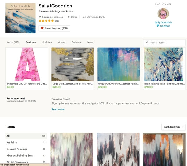 Sally J Goodrich Shop Without The Header