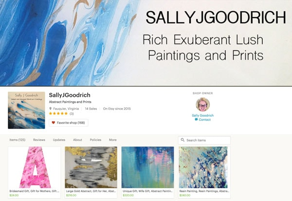 Sally J Goodrich Shop