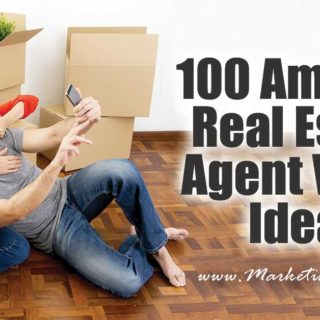 100 Amazing Real Estate Agent Video Ideas ... This list is 100 REAL ideas for real estate marketing videos. Bookmark this page and just go down the list, making videos and increasing your marketing assets!