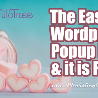The Easiest WordPress Popup Ever (Milotree) and it is FREE!