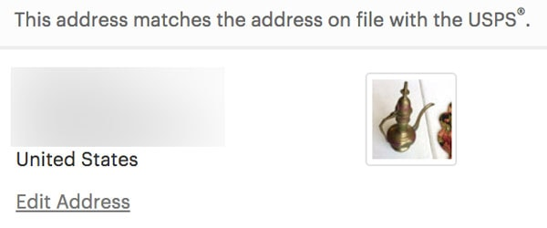 Etsy Address Matching