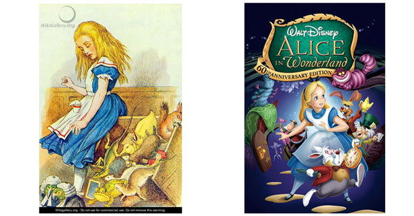 Alice In Wonderland Disney and Public Domain