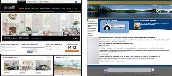 Luxury Site Compared With Broker Website