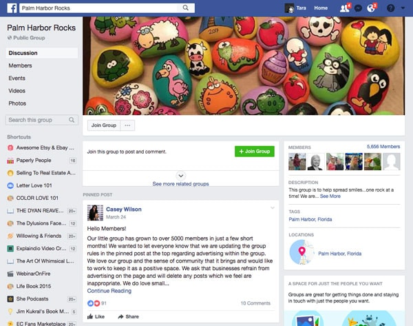 Palm Harbor Rocks Facebook Group