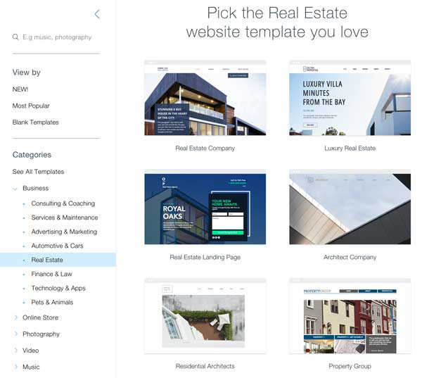 Wix Real Estate Websites