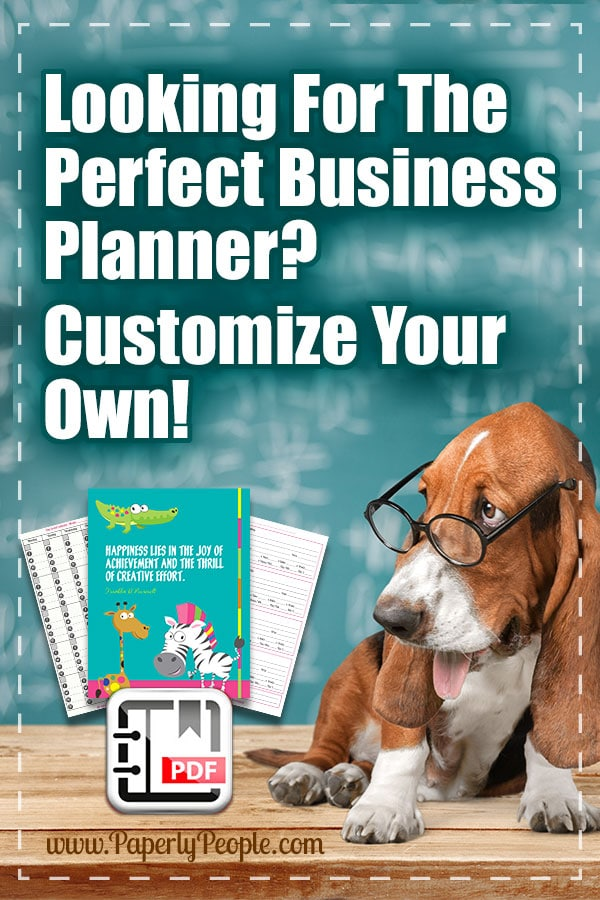 Looking For The Perfect Business Planner? Customized your own full letter sized planner with these PDF printable options! Perfect if you are using a three ring binder or Staples ARC disc bound planner.