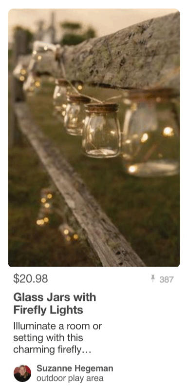 Glass Jars With Firefly Lights