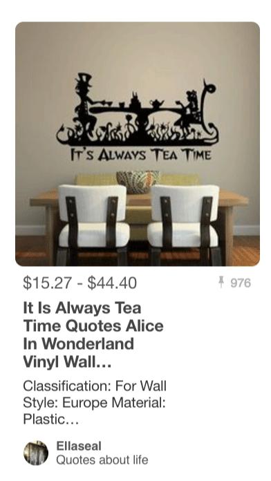 Its Always Teatime - Alice In Wonderland