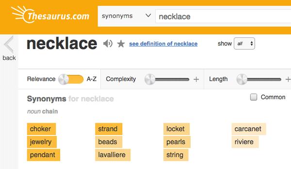 Thesaurus Words