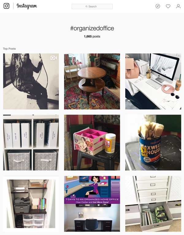 Instagram Organized Office Hashtag