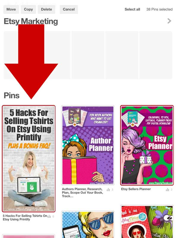 Organize Your Pinterest Board Sections