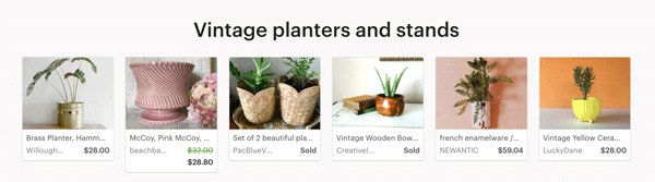 Vintage Planters and Stands