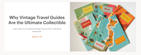 Vintage Travel Guide Blog Post