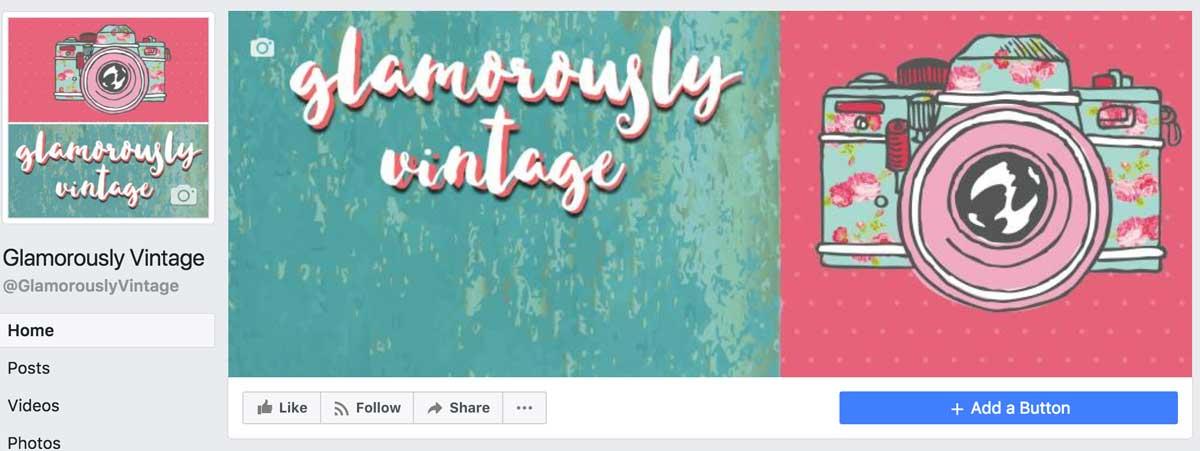 Glamorously Vintage Old Facebook Page