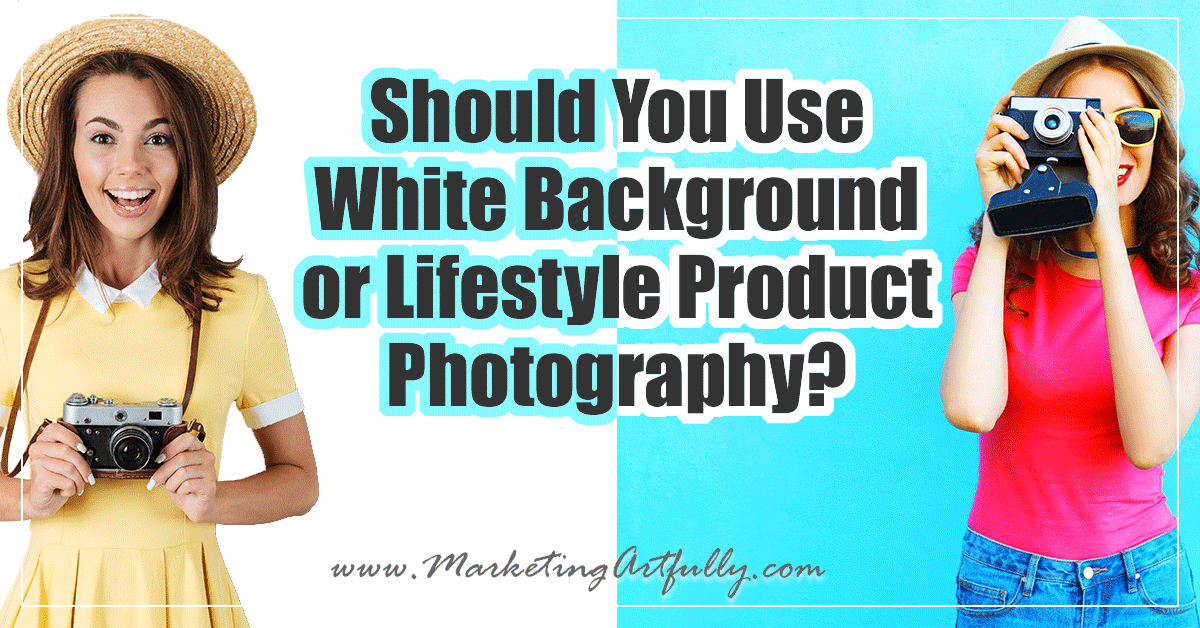Should You Use White Background or Lifestyle Product Photography?... Today is going to be a hot one! If you are doing product photography should you have plain-jane white backgrounds like on Amazon or should you have lifestyle styled photos?