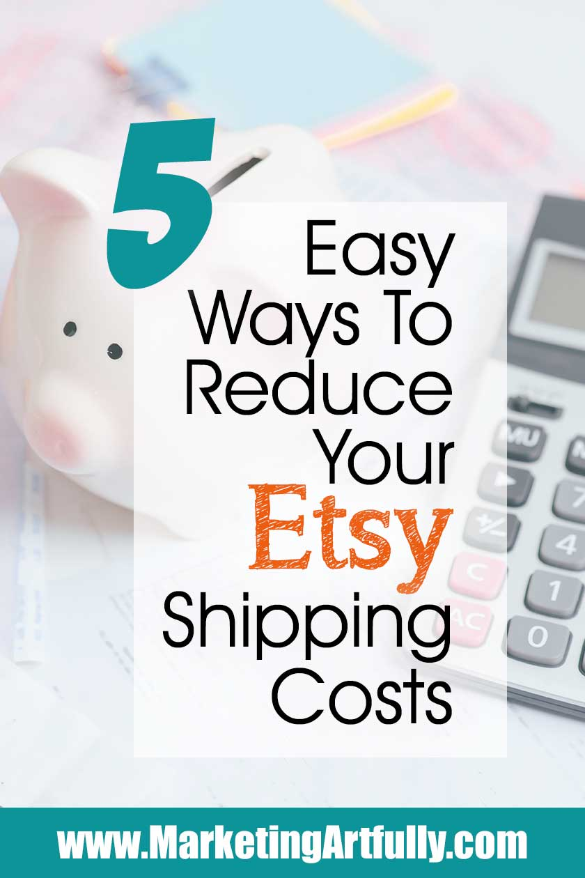 5 Easy Ways To Reduce Your Etsy Shipping Costs… Includes my best tips and ideas from using the right boxes to Etsy shipping labels, priority mail and setting up your shipping on listings. The highest costs of selling our shop products can sometimes be shipping so any savings are going to help your bottom line!