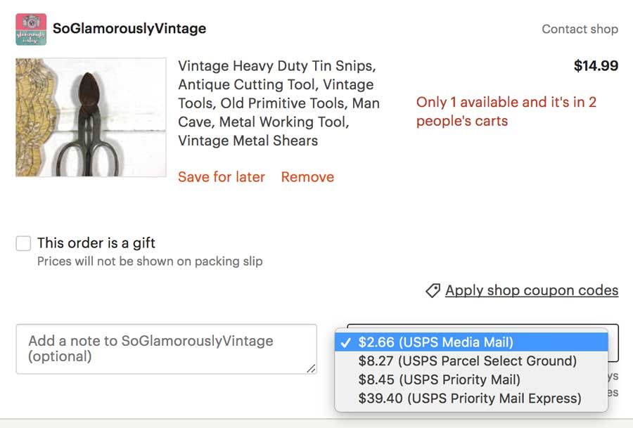 Media Mail Etsy Shipping Costs